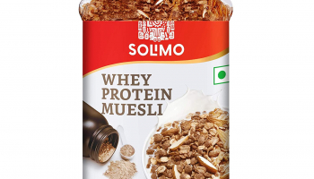 Amazon Brand Solimo Whey Protein Muesli, 1kg for ₹445