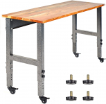 Fedmax Mobile Garage Workbench with Adjustable Legs, 48 Inch for $225.24