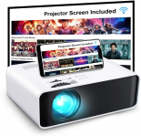 GooDee WiFi Mini LED Projector with Projector Screen for $90.49