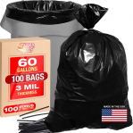 Tougher Goods 3 Mil 60 Gallon Contractor Trash Bags for $45.94