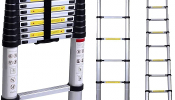 WolfWise 3.8M Telescoping Ladder, 150 Kg Capacity for £71.49