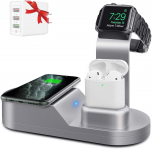 Yestan Wireless Charger Case for Apple Watch, iPhone, and Airpods for $18.20